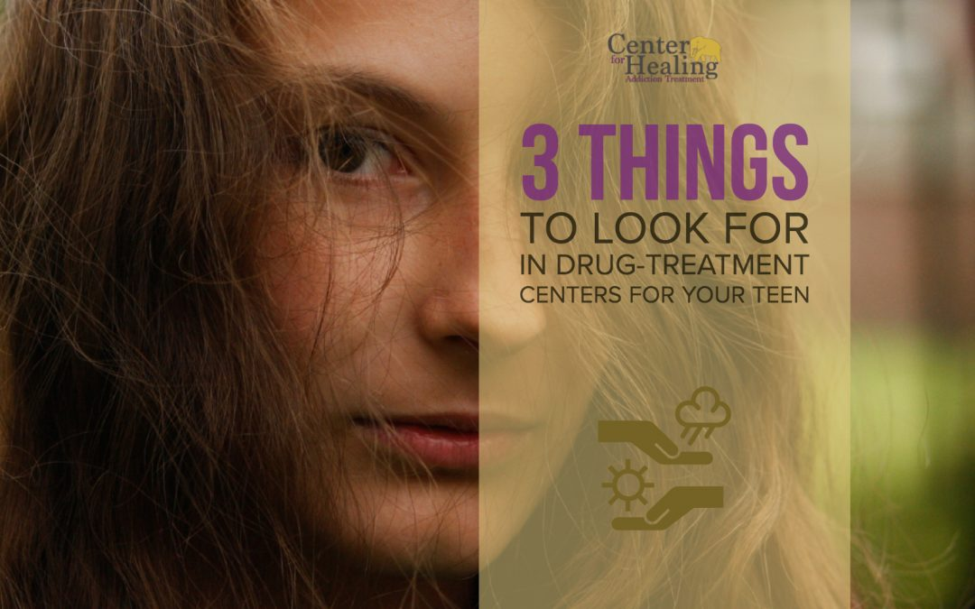 3 Things To Look for in Drug-Treatment Centers for Your Teen